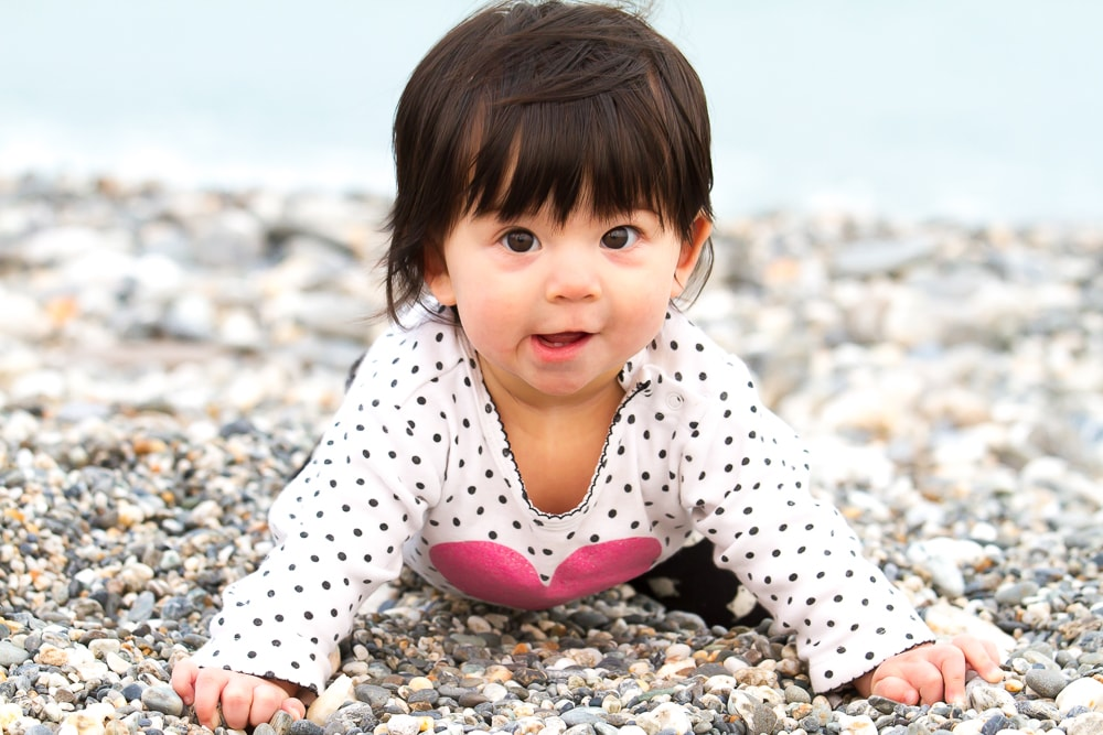 My daughter Lavender on Qixingtan beach, Hualien, Taiwan
