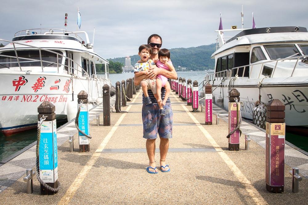 On the docks at Itashao, Sun Moon Lake, Taiwan