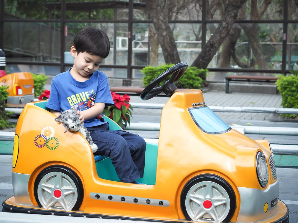 Kids' cars at the Kaohsiung Zoo
