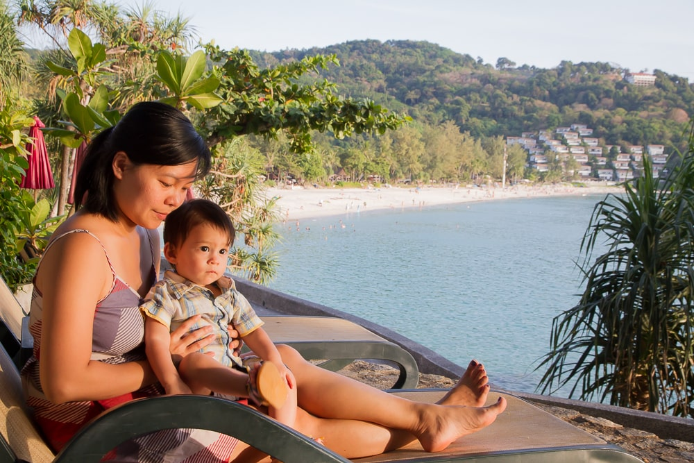View of Kata Noi beach from Mom Tri's Kitchen, Phuket