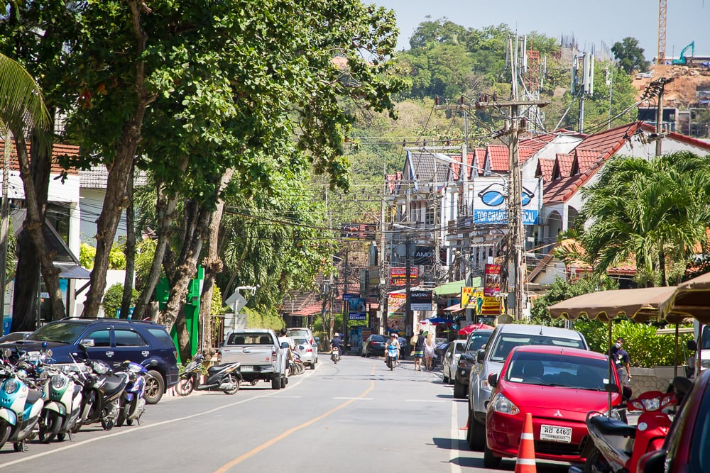 Main street of Kata Noi, Phuket