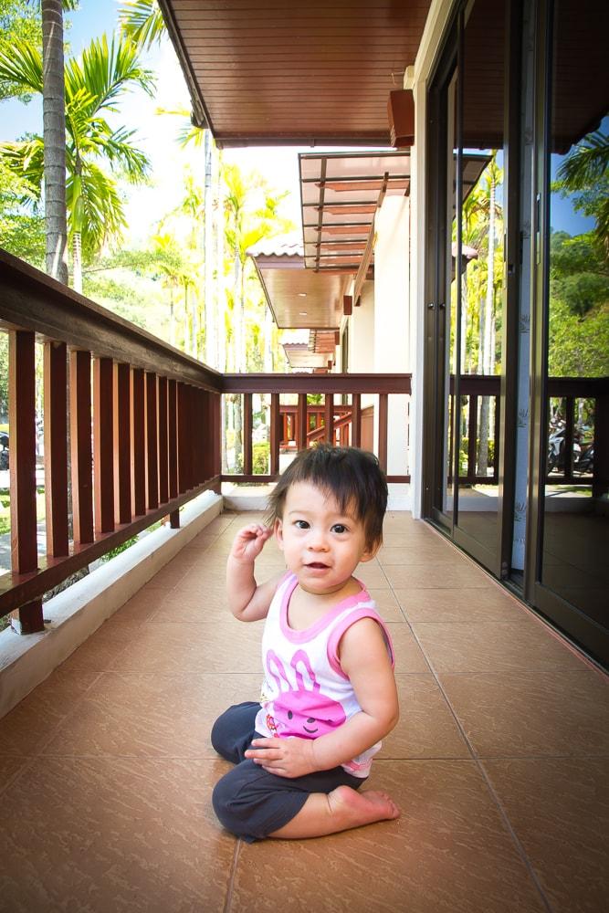 Villa balcony at Kata Noi Resort, Phuket
