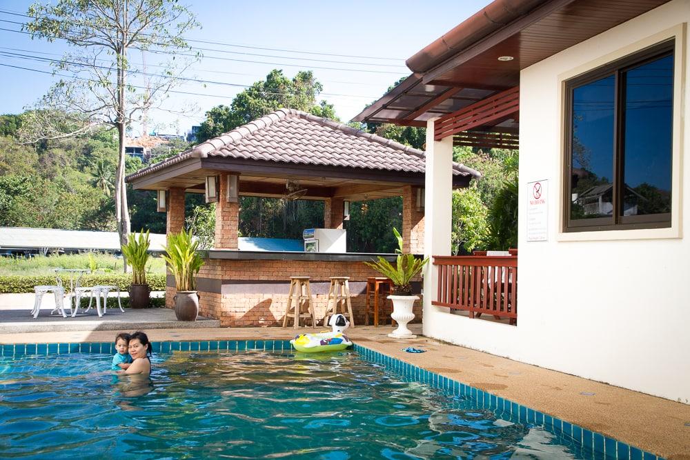 The pool at Kata Noi Resort, Phuket