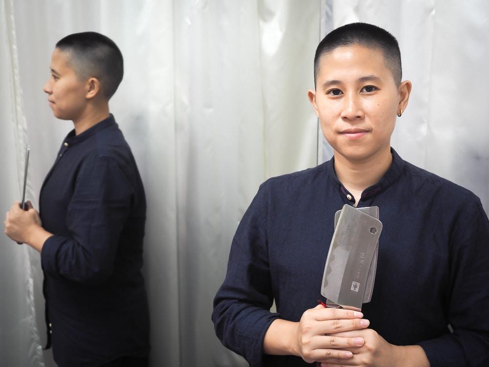 Olivia Wu, master of Chinese knife massage in Taipei, Taiwan