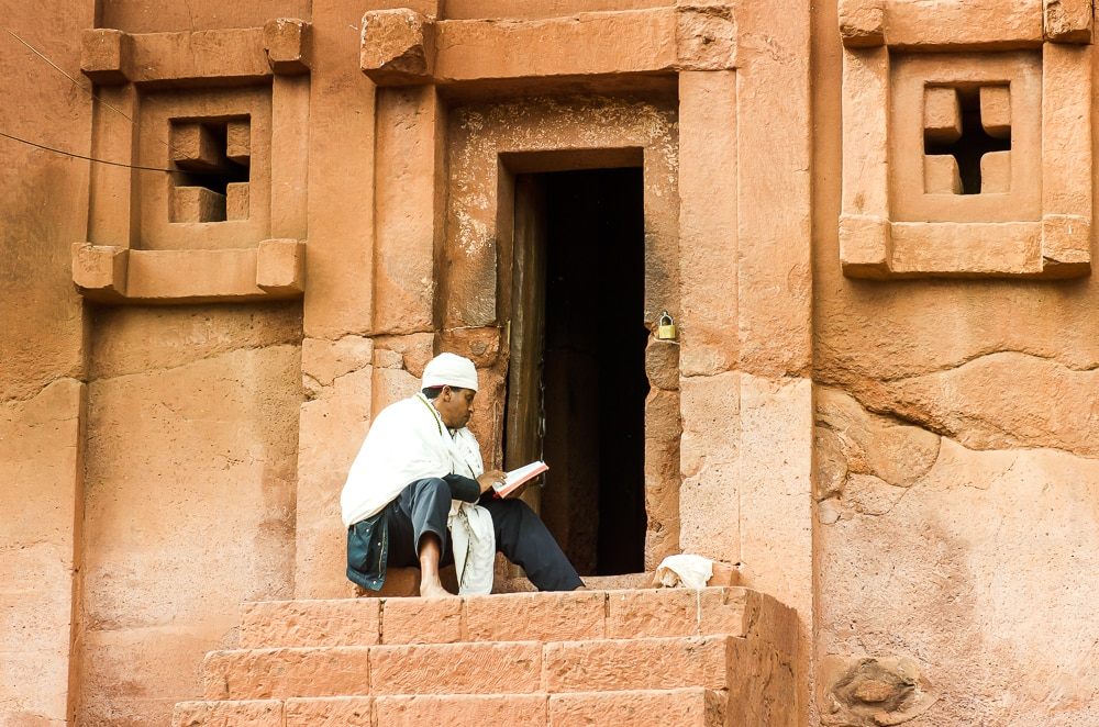 Lalibela, end point of an annual stream of pilgrims from around Ethiopia