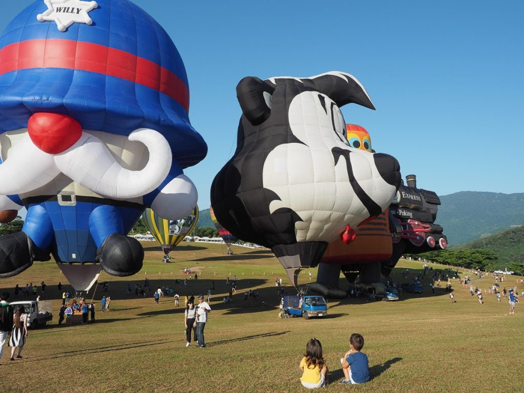 Taiwan hot air balloon festival