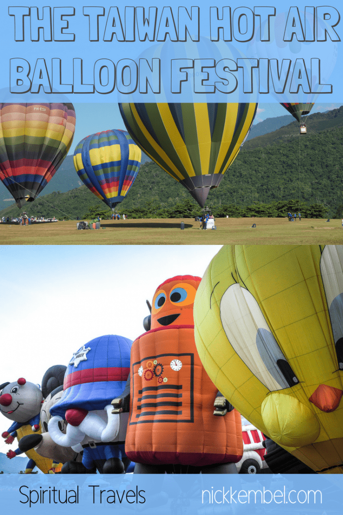 The Taiwan hot air balloon festival in Luye, Taitung is Taiwan's best hot air balloon festival. Luye is also beautiful to visit any time of year! #luye #taitung #taiwan #hotairballoon #luyetaiwan #taitungtaiwan #rideahotairballoonintaiwan #hotairballoon #taiwantravel