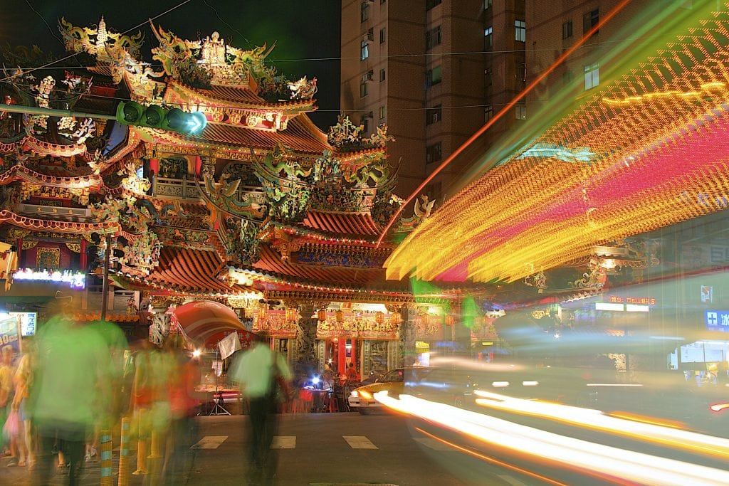Songshan Ci You Temple, Raohe Night Market