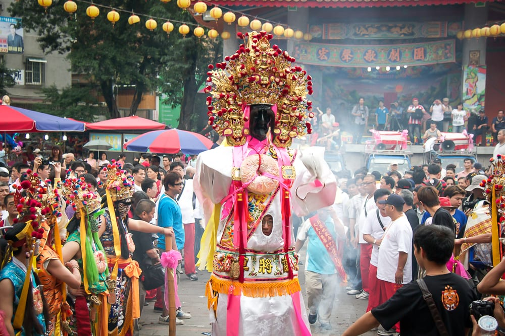 Matsu PilgrimA traditional parade in Taipeiage, one of the most popular events in Taiwan in April