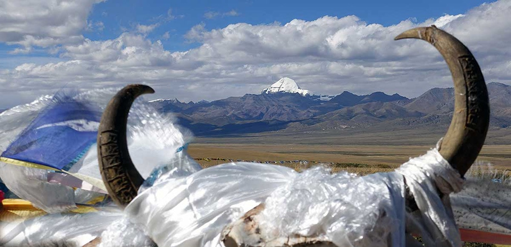 Mount Kailash, Tibet, one of the great travel pilgrimages of the world, where people do kora, a circuit around the mountain