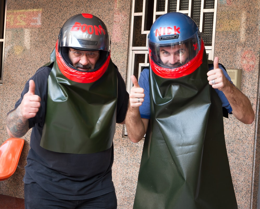 Safety gear for Yanshui Beehive Rockets Festival