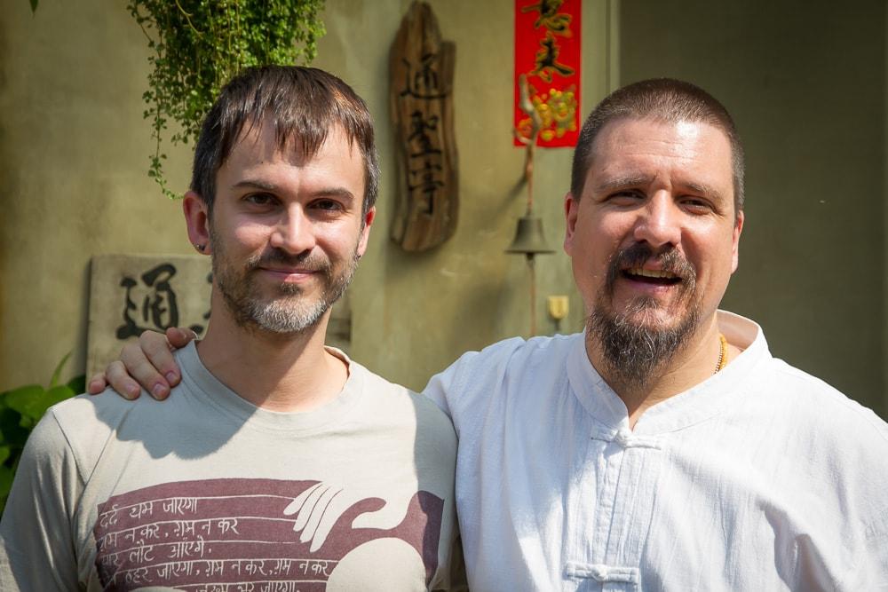 Nick Kembel and Wu De of Global Tea Hut