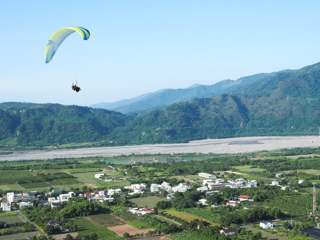Paragliding in Luye, Taitung, Taiwan