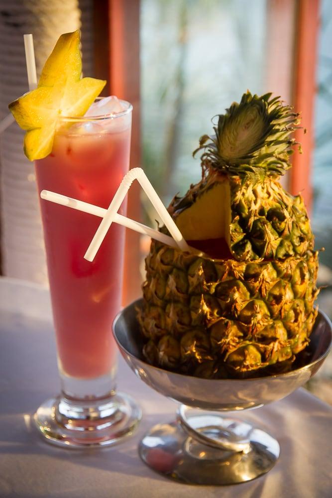 Sunset cocktails at Mom Tri's Kitchen, Kata Noi, Phuket