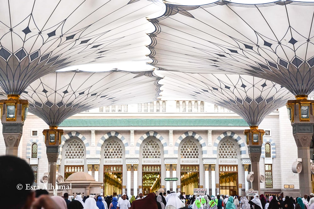 Entrance to the Prophet's Mosque in Medina (Madinah),