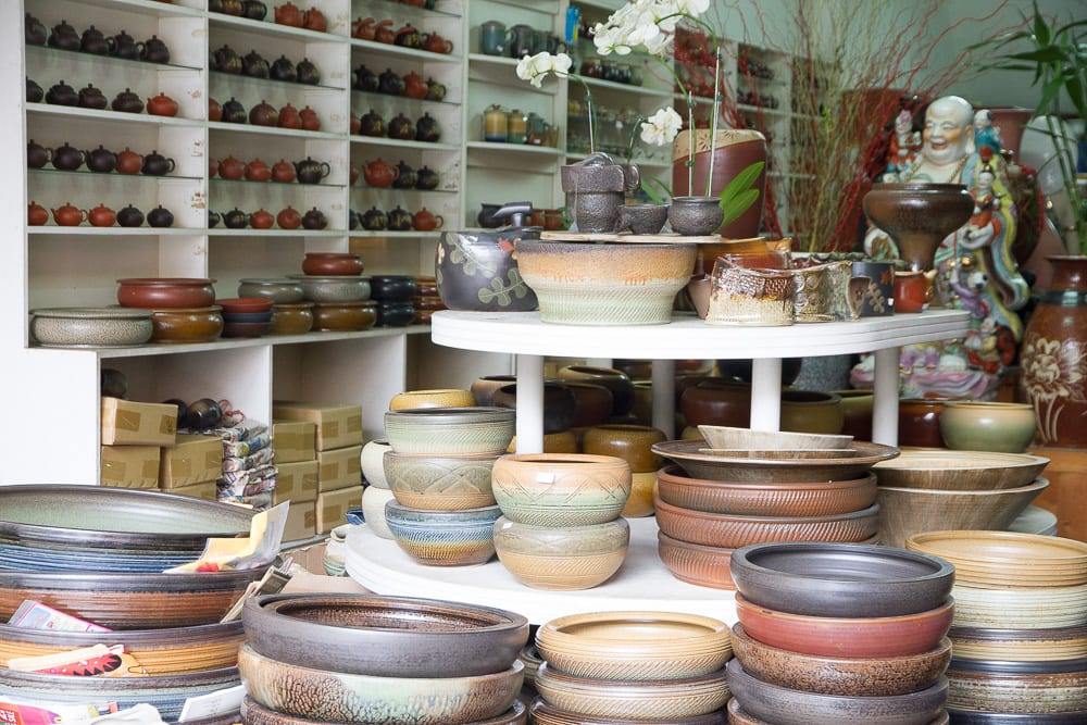 Functional Taiwanese pottery for sale in Yingge, Taiwan
