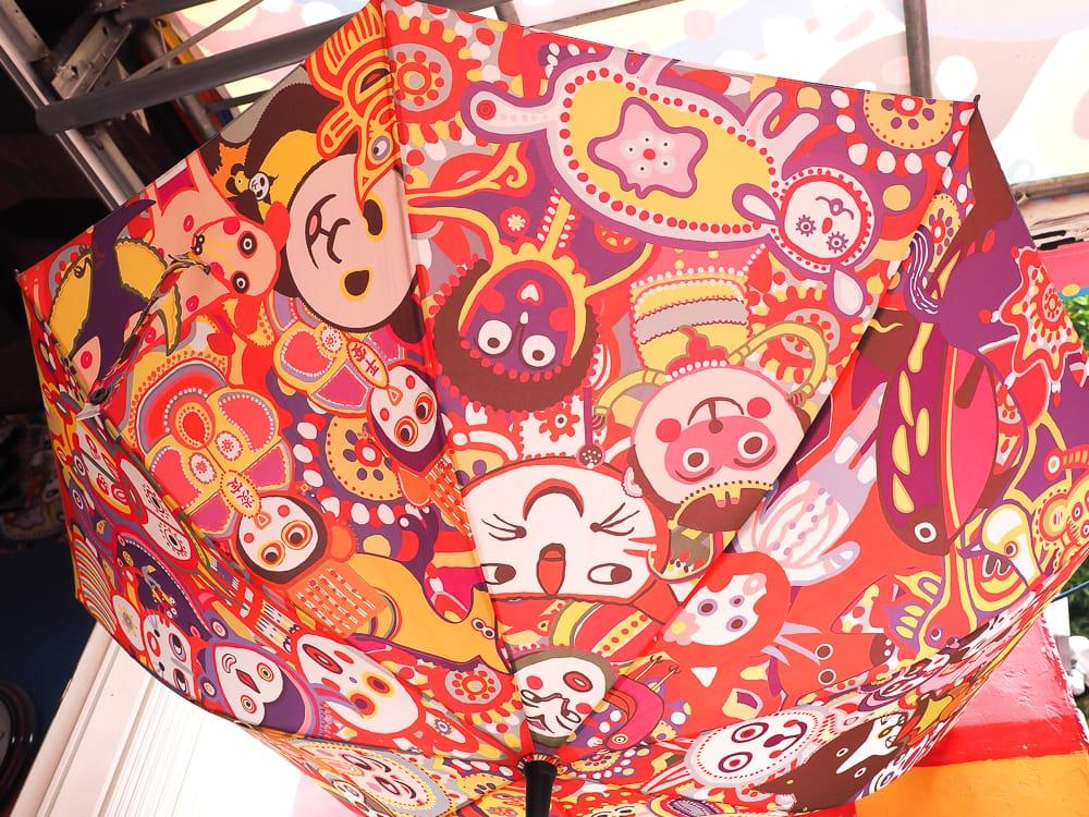 Umbrella for sale at Rainbow Village