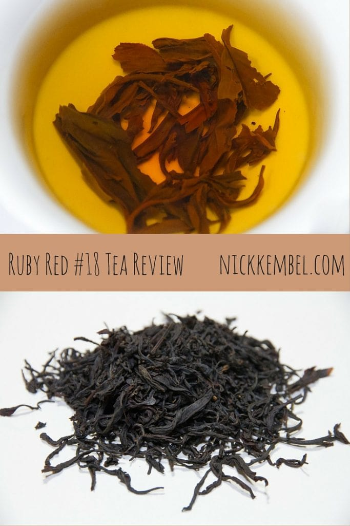 A review of Ruby Red 18 black tea from Taiwan #taiwantea #blacktea #taiwanesetea