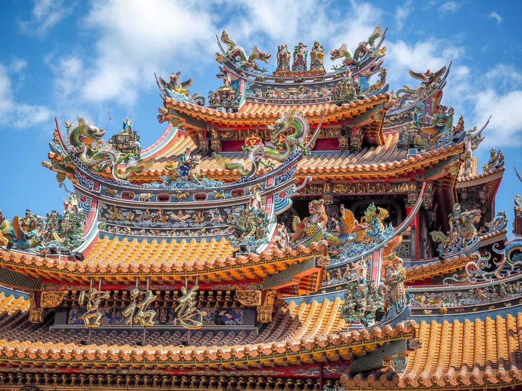 Temples are some of the best places to visit in Taiwan