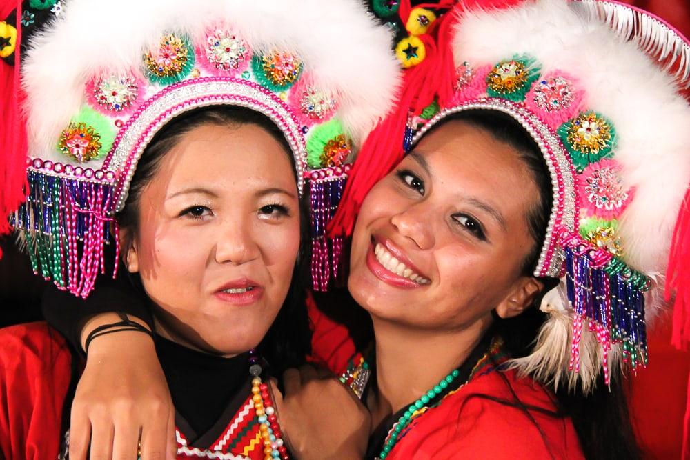 Aboriginal Taiwanese performers at Sun Moon Lake