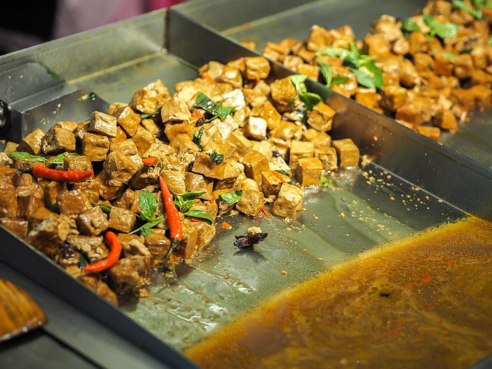 Marinated dou gan (tofu cubes)