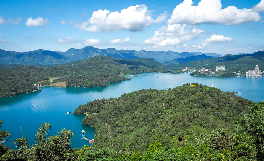 Sun Moon Lake, one of the most famous day trips from Taichung