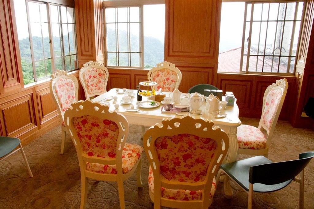 Tea room at the Taipei Tea House in Jiuzhuang, Nangang, Taipei, Taiwan
