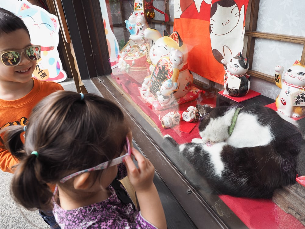 Houtong, the Taiwan Cat Village, with kids
