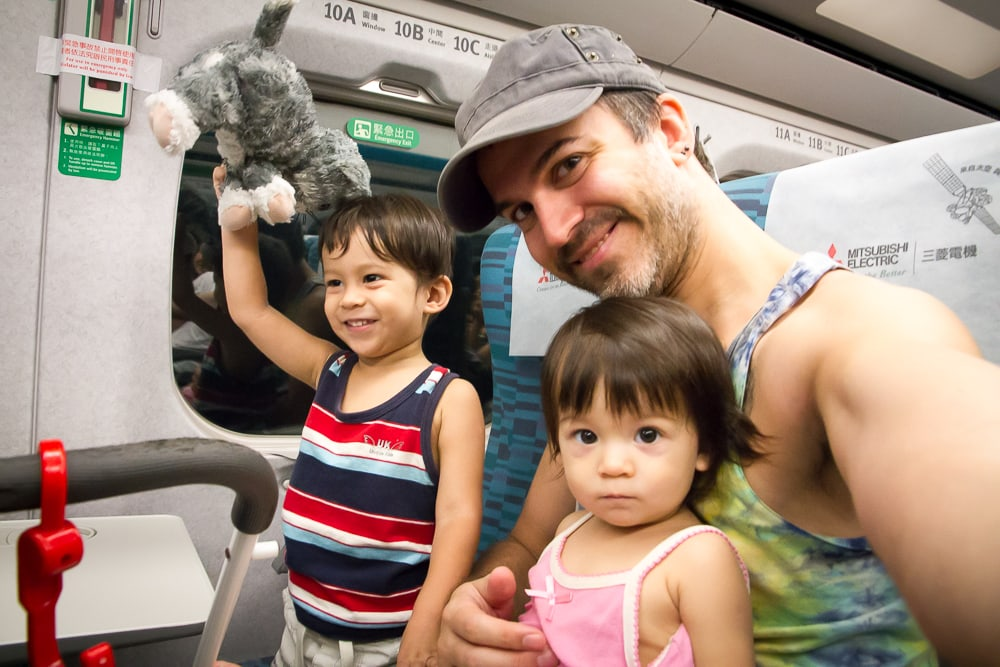 Riding the HSR in Taiwan with a baby