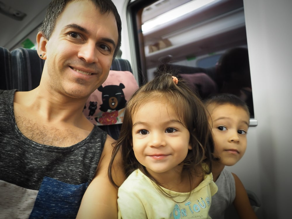 Taiwan High Speed Rail with kids