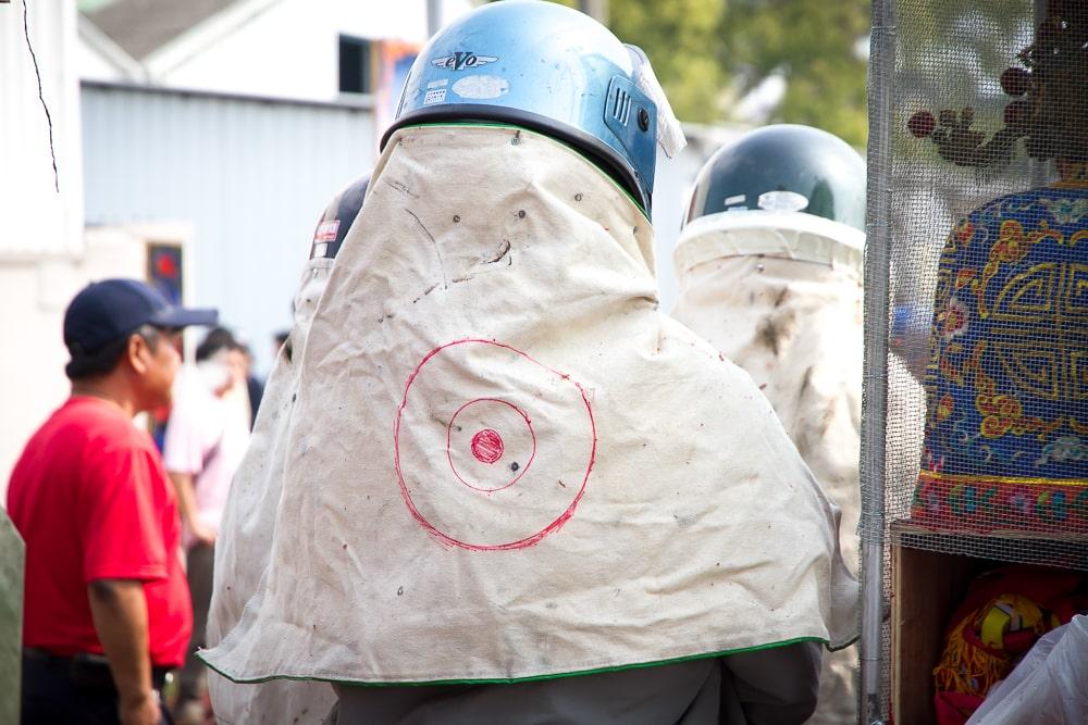 Target for bottle rockets in Yanshui