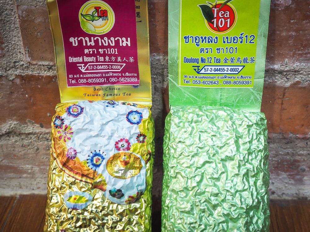 Thai teas from 101 Tea Plantation