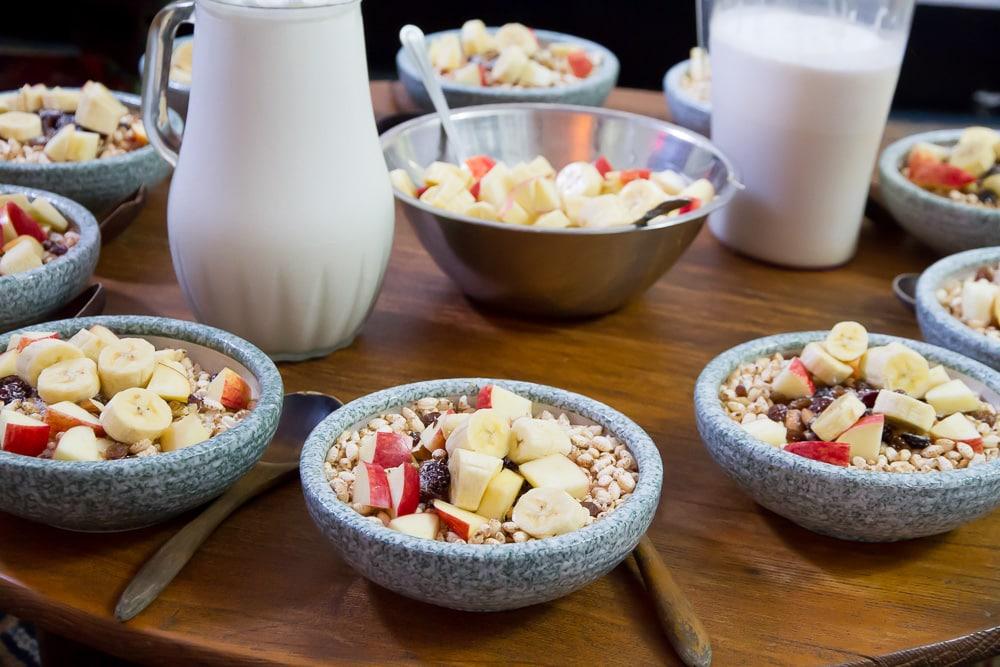Vegetarian breakfast at Global Tea Hut