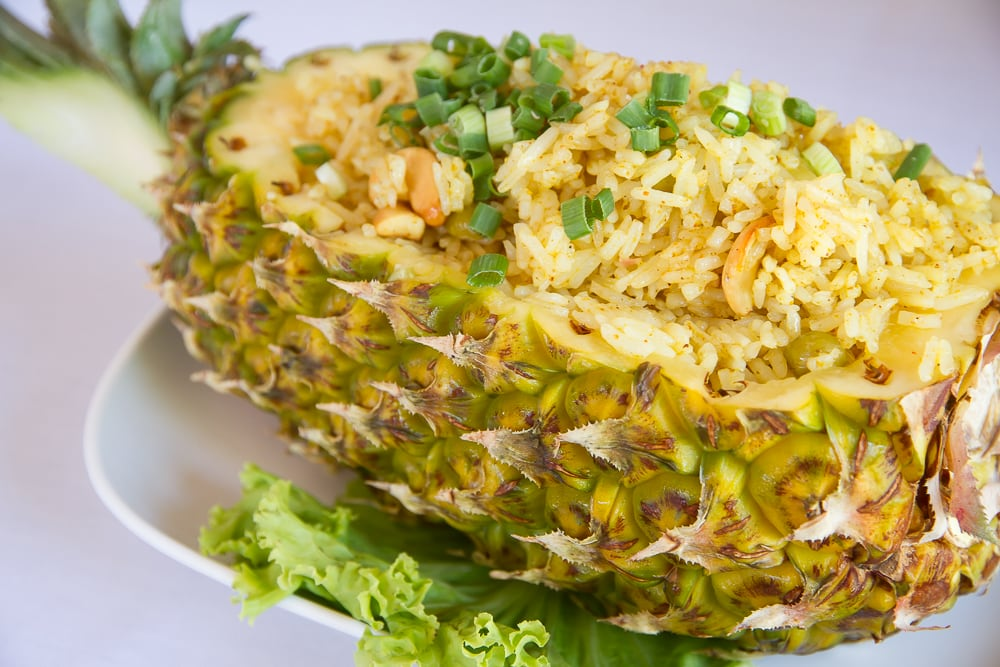 Thai pineapple fried salad
