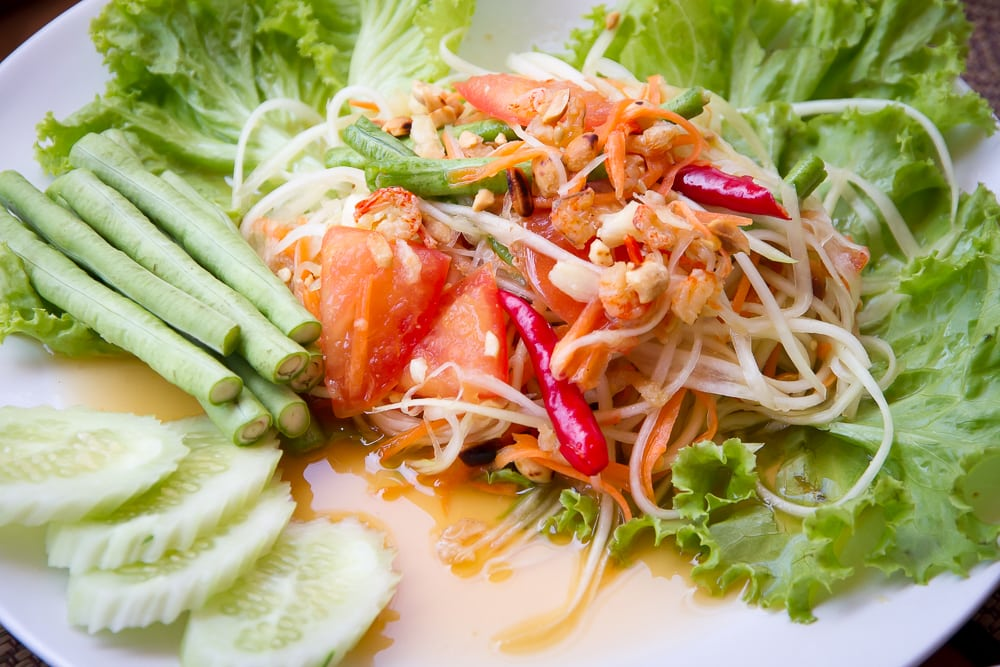 Thai raw mango salad