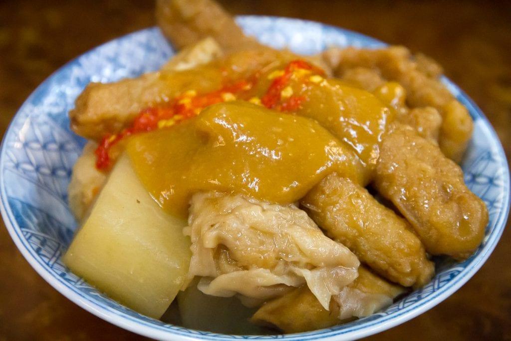 "Taiwanese ""tempura"" (tian bu la)"
