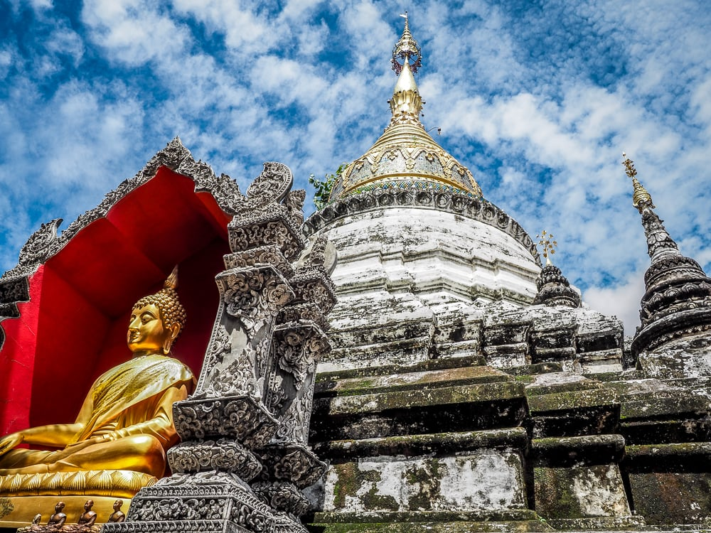 Chedi at Wat Buppharam, one of Chiang Mai's most beautiful temples
