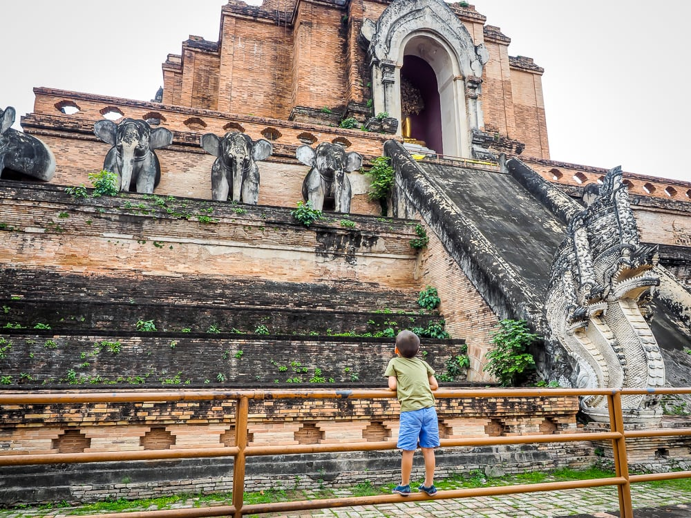 Ruins of Wat Chedi Luang, one of the best temples in Chiang Mai's Old City