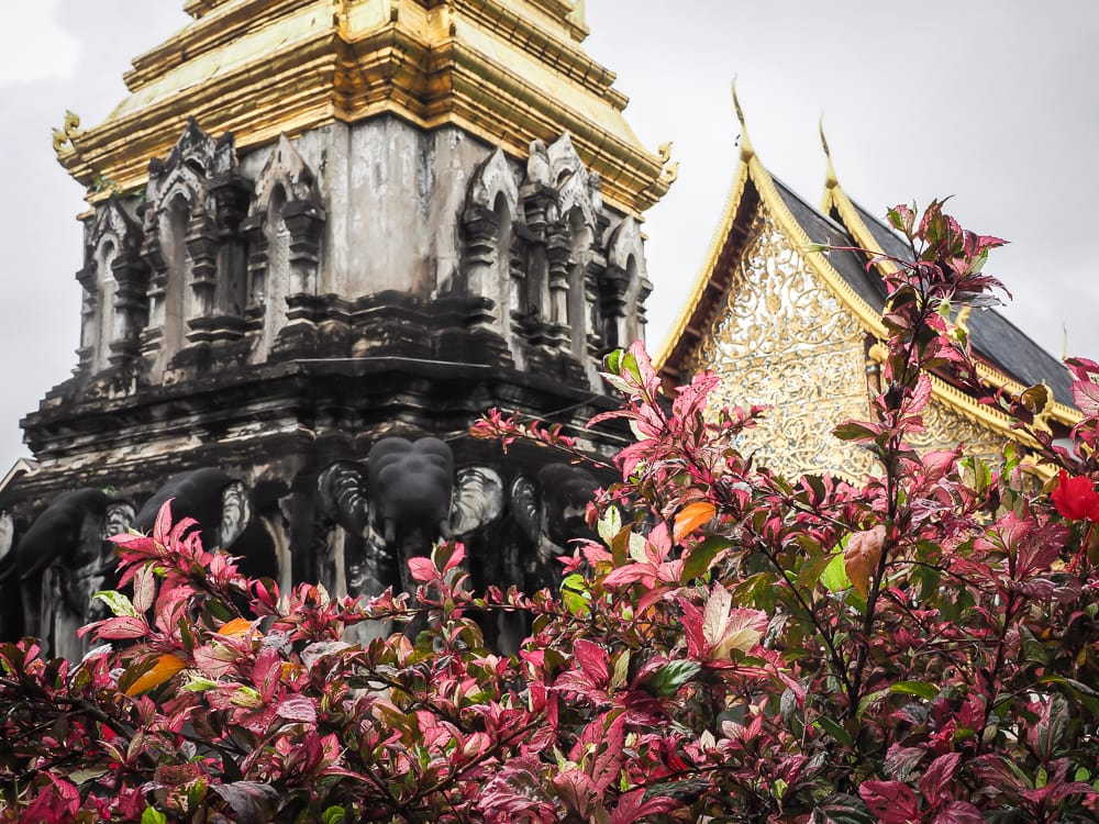 Wat Chiang Man, the oldest temple in Chiang Mai's Old City, aka the Chiang Mai Elephant Temple