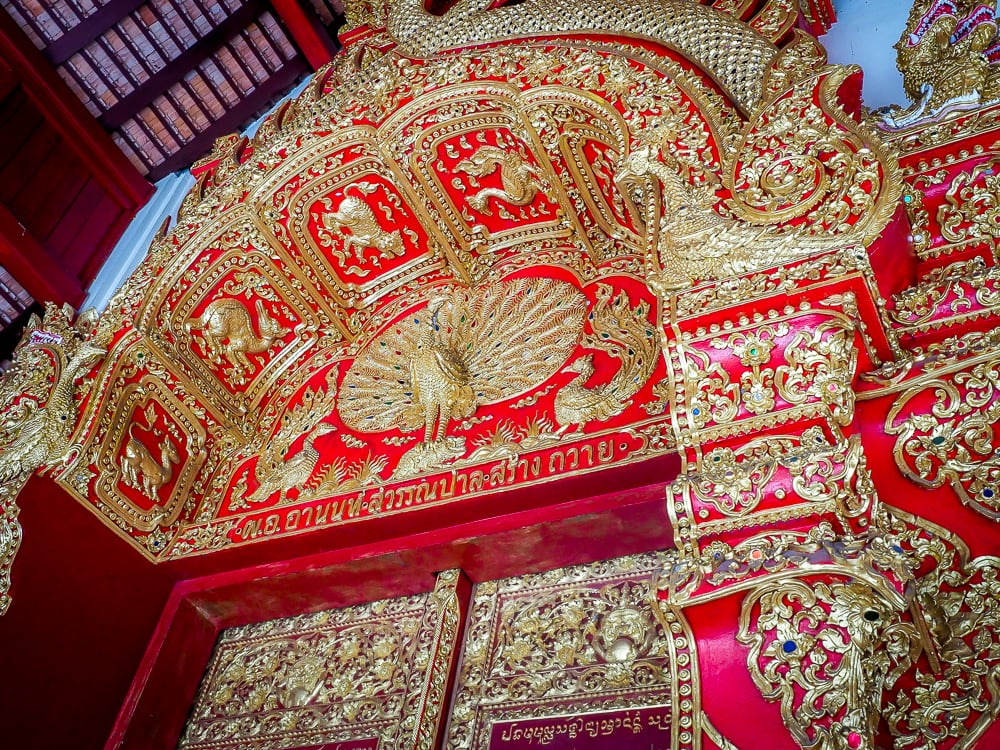 Wat Ku Tao, a Burmese temple around Chiang Mai
