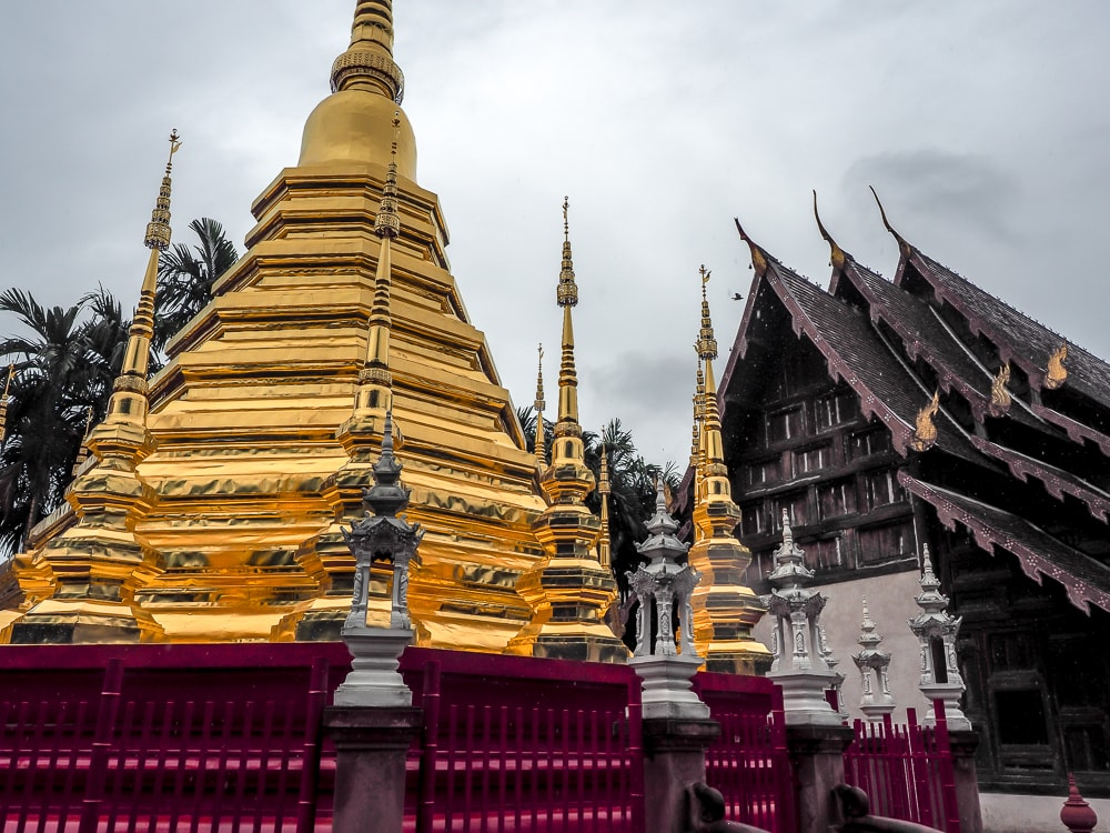 Wat Phan Tao, an old teak temple in the Chiang Mai Old City