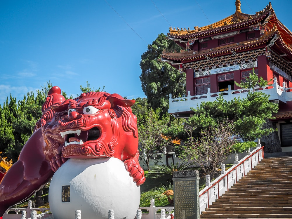 Lion in front of Wenwu Temple, Sun Moon Lake