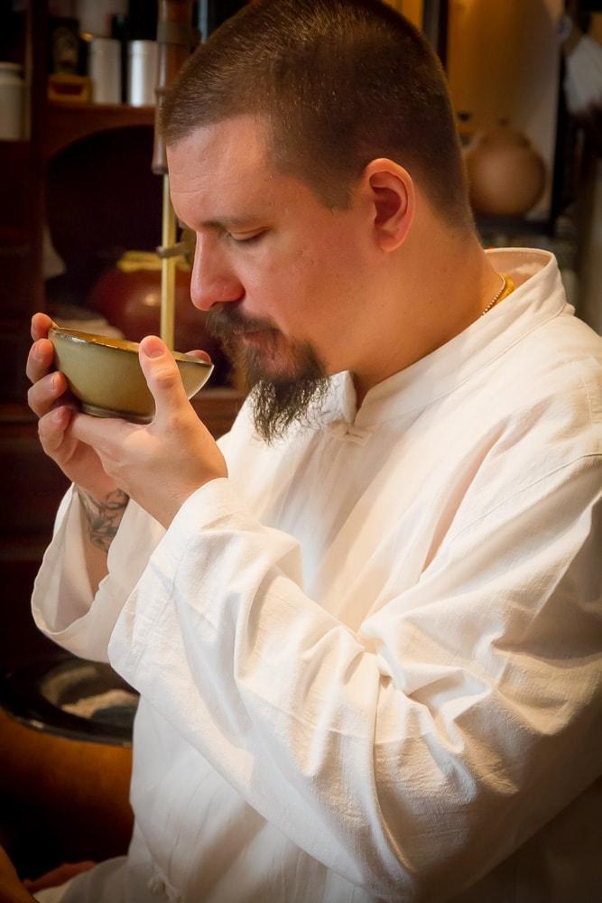 Wu De, the founder of Global Tea Hut