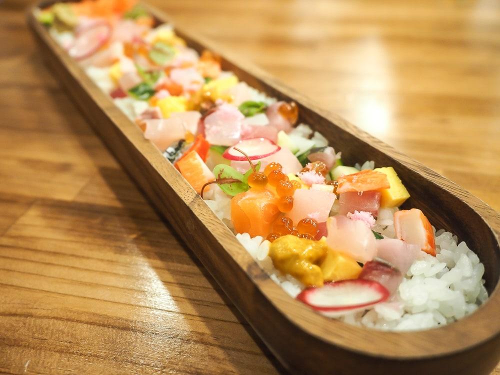 Sushi board and Lan Shan Shi Si Japanese restaurant in Ximending