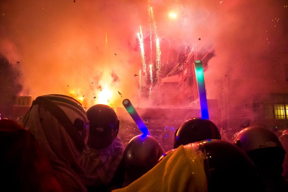 Fireworks display at Yanshui Beehive Festival