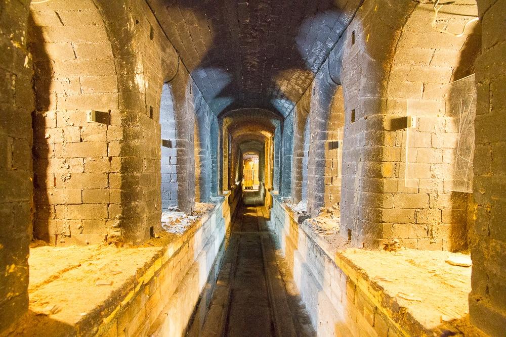 Inside Guzao historical kiln, Yingge, Taiwan