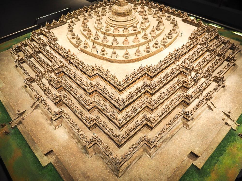 Borobodur miniature at Museum of World Religions