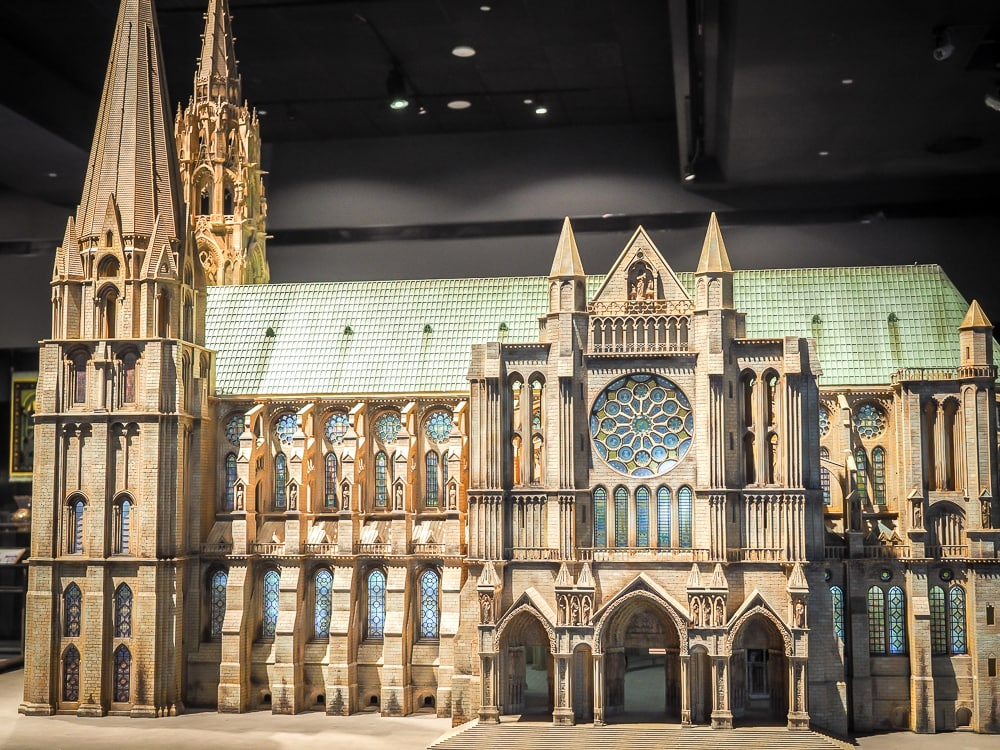 Chartres Cathedral miniature at the Museum of World Religions Taipei