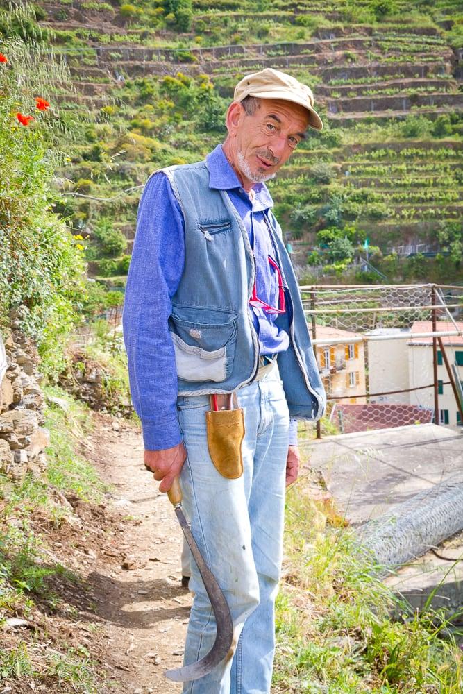 Farmer in Cinque Terre