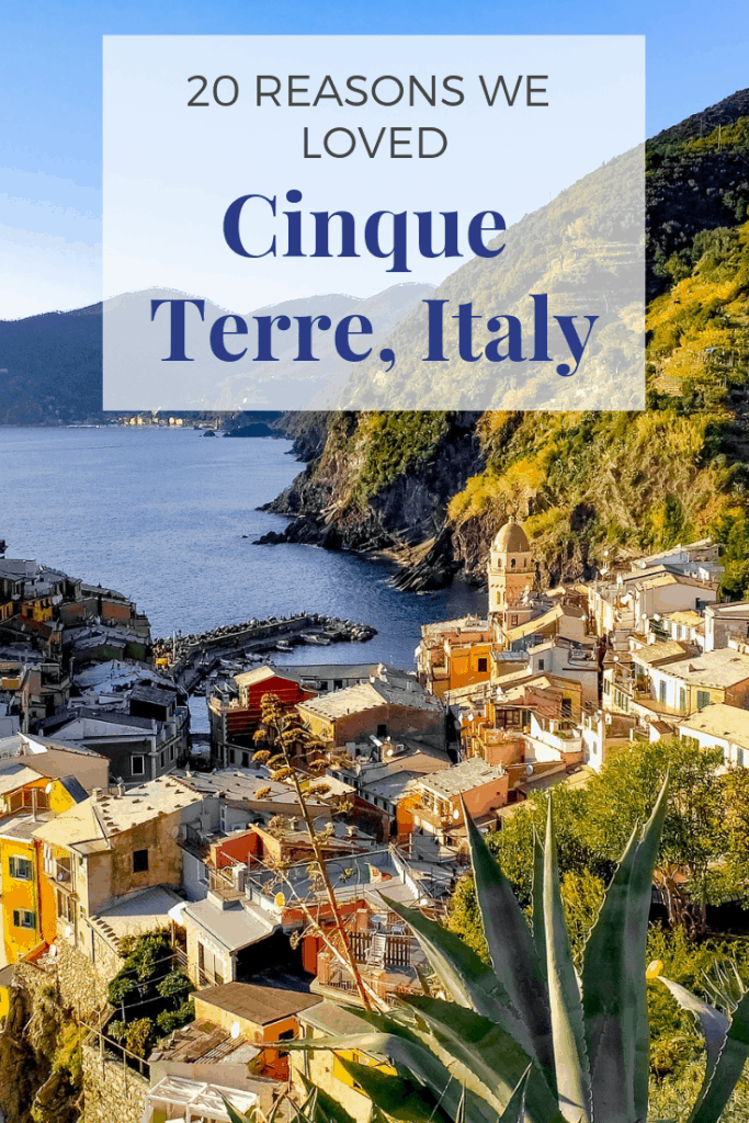Heading to Cinque Terre, Italy for a romantic travel destination? We loved it on our Cinque Terre honeymoon! It's definitely one of the best places for a honeymoon in Italy. Here are 20 reasons we loved Cinque Terre! #italy #cinqueterre #italyhoneymoon #cinqueterrehoneymoon #romantic travel